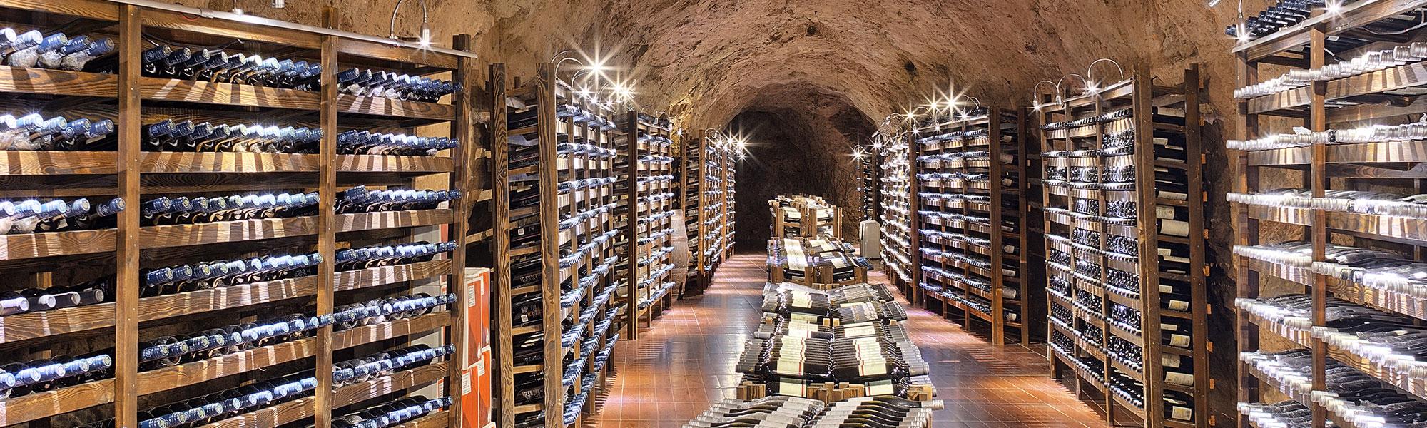 Wine cellar hallway